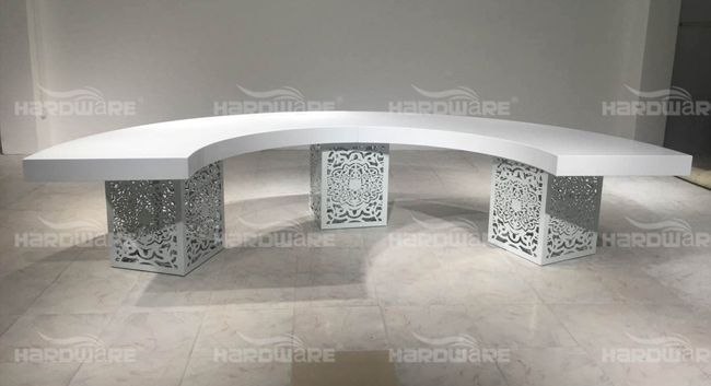 half moon dining table,hardware