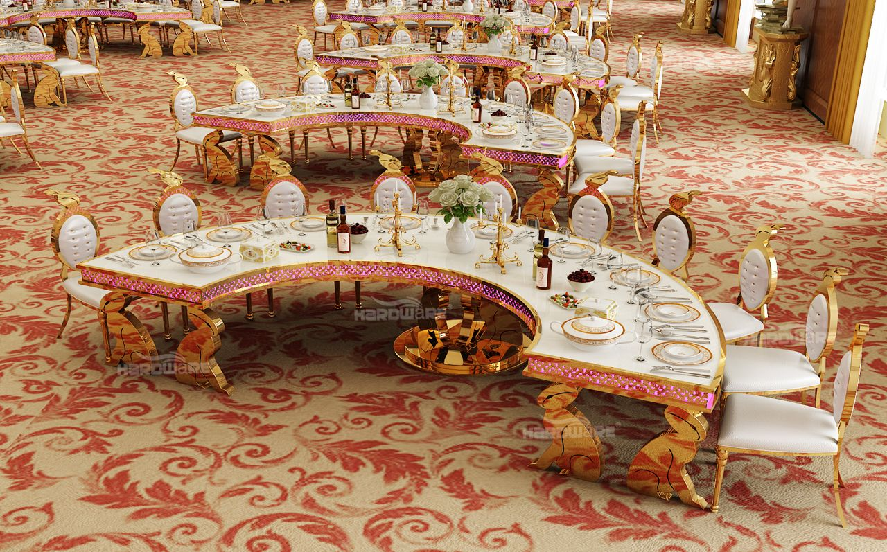 2017 New Design Wedding Dining Table And Stainless Steel