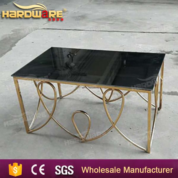 chinese mirror glass top tea table furniture