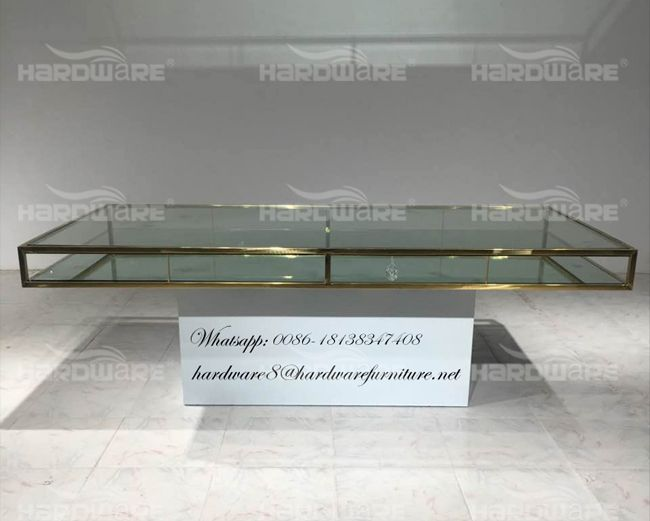 6 seater glass dining table,hardware