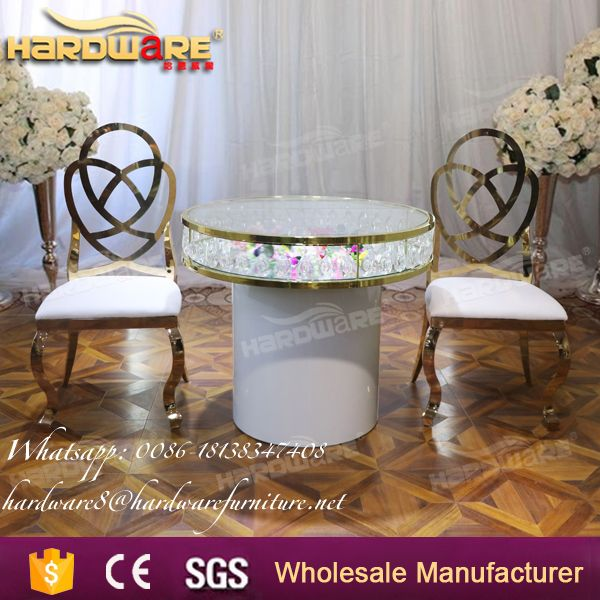 cheap round wedding hall banquet table with crystal